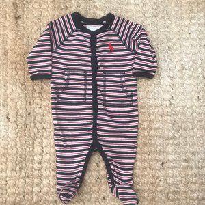 Ralph Lauren Baby Striped Footie Jumpsuit/Overall